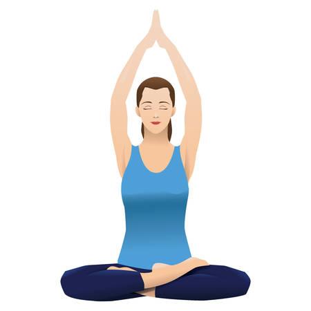 mujer que practica yoga