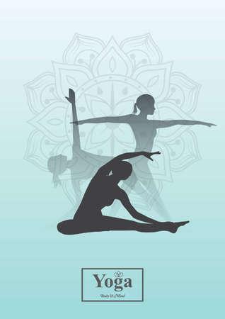 chandrasana: yoga design Illustration