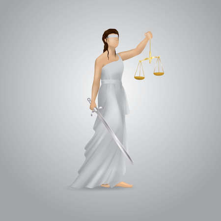 impartiality: lady justice statue