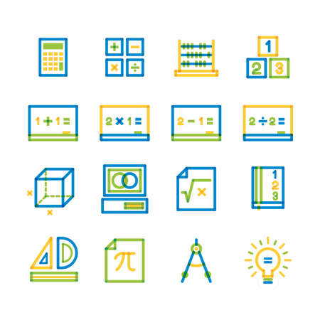 collection of mathematical icons
