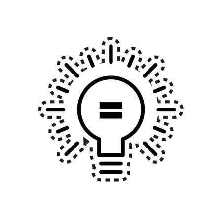equals: light bulb with equal sign icon