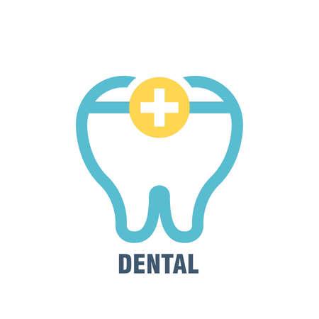 Dental subject icon illustration.