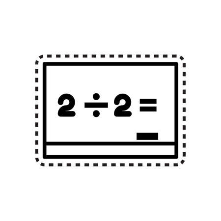 board with equation icon