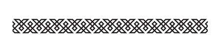 welsh patroon grens ontwerp Stock Illustratie