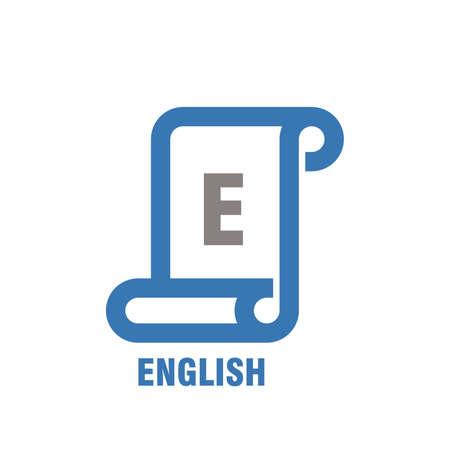 Icone anglais sujet Banque d'images - 74784800