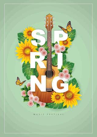 spring music festival poster design