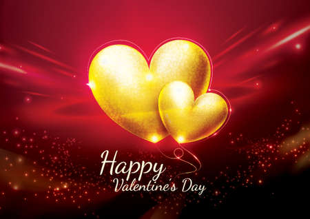 valentines day greeting Stock Vector - 75814860