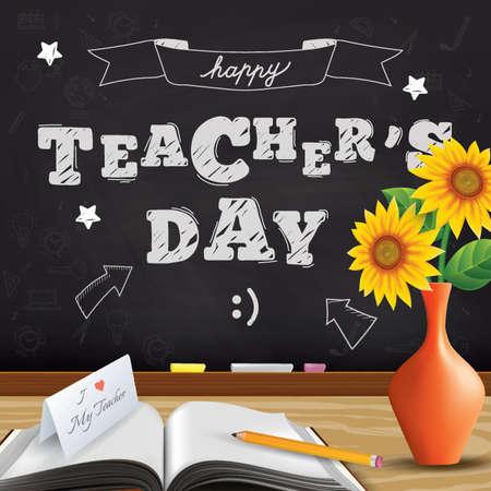 happy teacher's day design Vectores