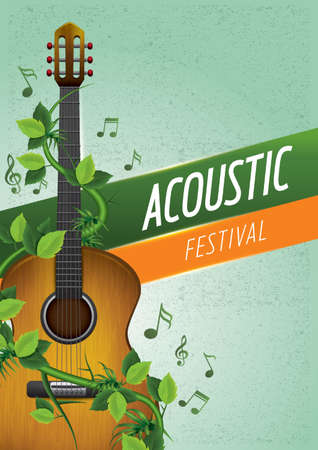 semiquaver: acoustic festival poster design Illustration