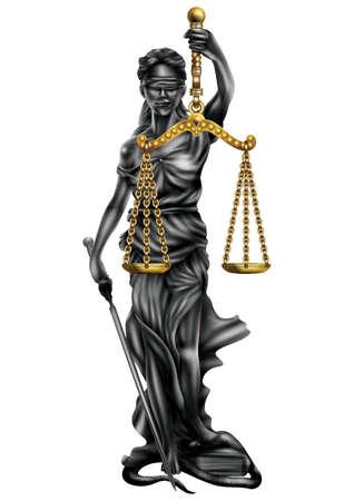 女性正義像  イラスト・ベクター素材