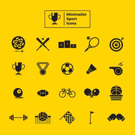 set van sport iconen