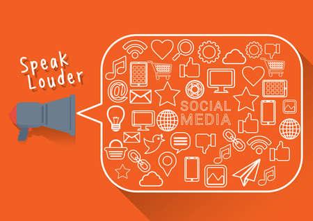 receiver: social media concept