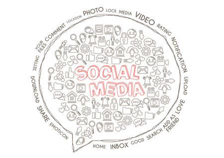 Social media concept Ilustrace