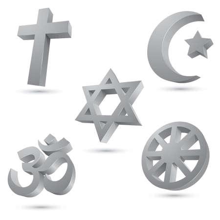 Compilation of symbols of religions