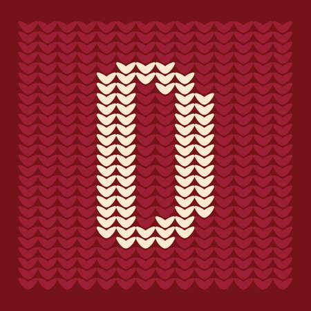 textiles: alphabet d Illustration