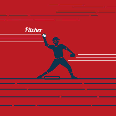 baseball pitcher Ilustração