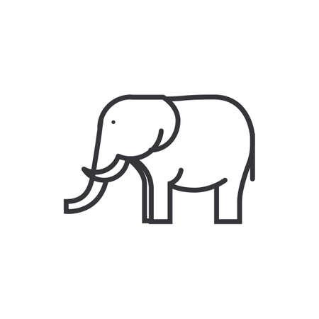 Icône de l'éléphant Banque d'images - 76872347