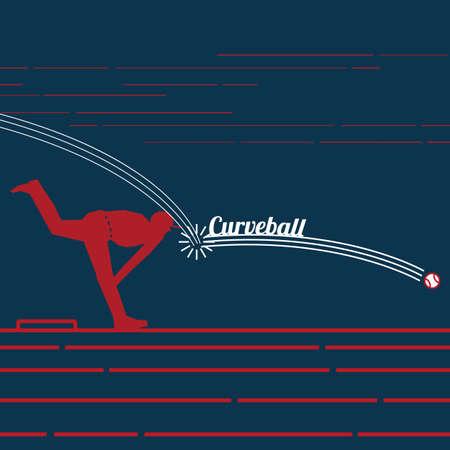 Curve ball Ilustração