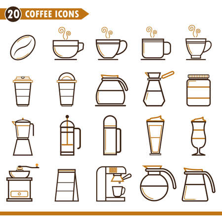 coffee icons set Illustration