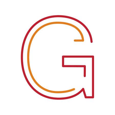 basic letters: letter g Illustration