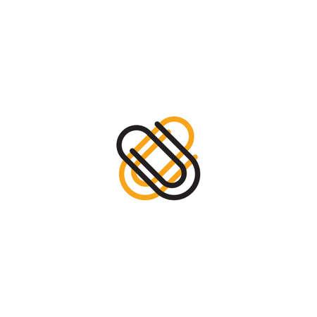 添付ファイルのアイコン  イラスト・ベクター素材