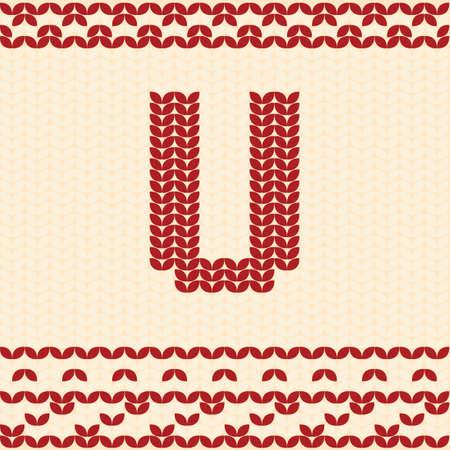 textiles: Letter u