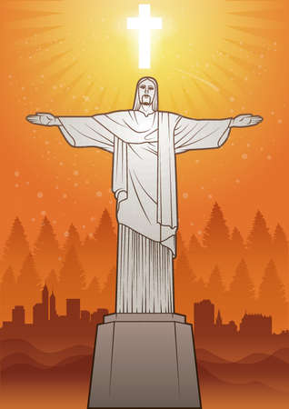 Jesus statue Illustration