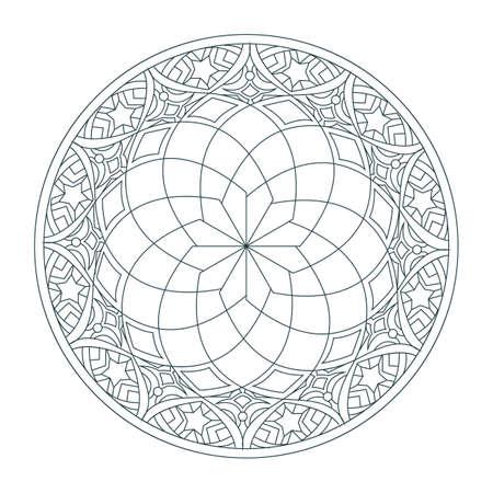 Indian rangoli design Illustration