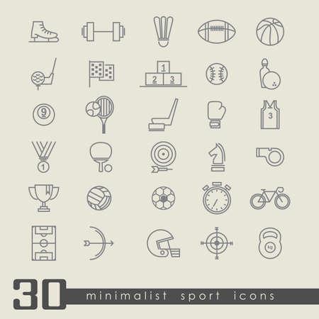 Set van sport iconen Stock Illustratie