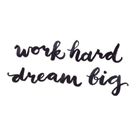 work hard dream big concept Illusztráció