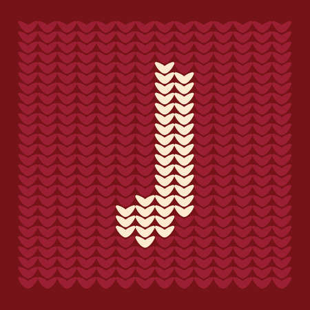 textiles: alphabet j Illustration