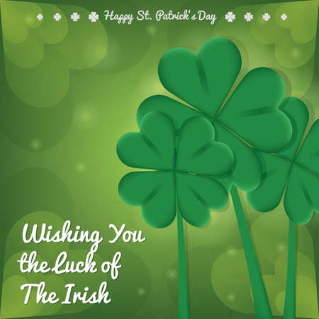 lucky clover: happy st patricks day