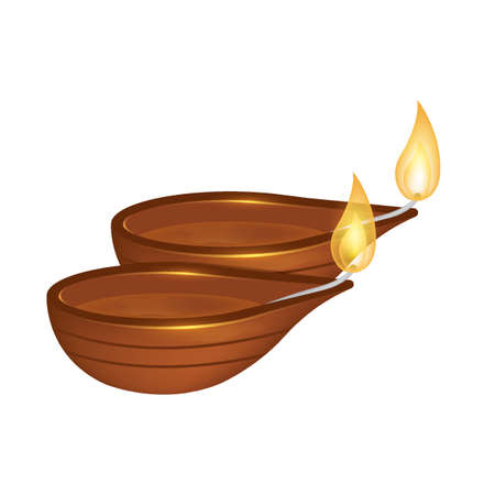 diwali lamps Illustration