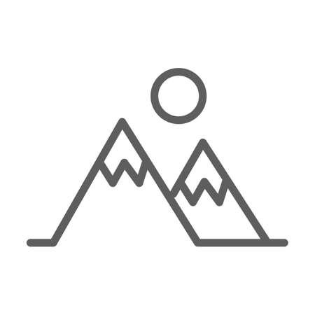 山のアイコン  イラスト・ベクター素材