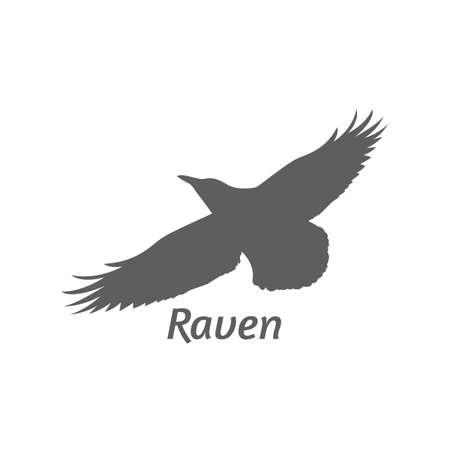silhouette of a raven Фото со стока - 76882042