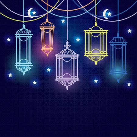 blessed: hari raya card design Illustration