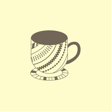 Cup with pattern Illustration