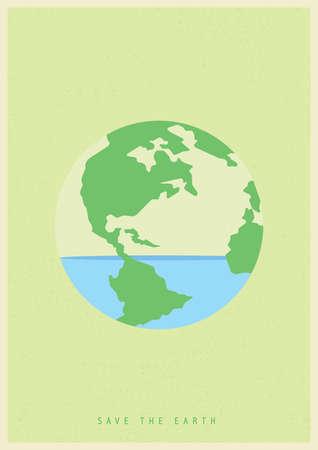 지구의 개념을 구하기 일러스트