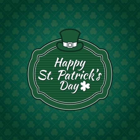st  patrick's day: Happy st patricks day Illustration