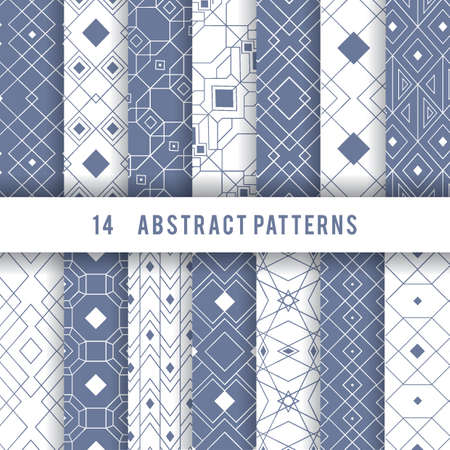 Set of abstract pattern icons Stock Vector - 76881989
