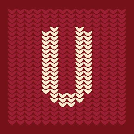 textiles: alphabet u Illustration