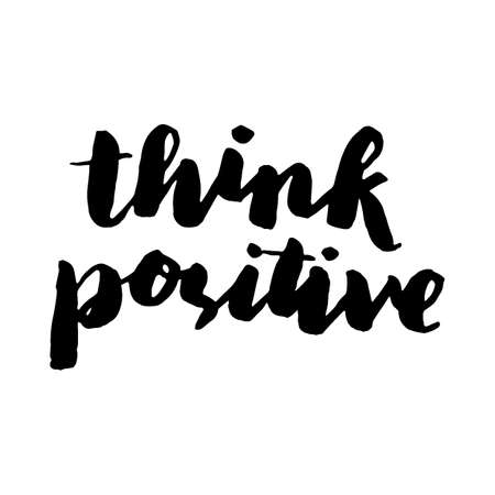 think positive text