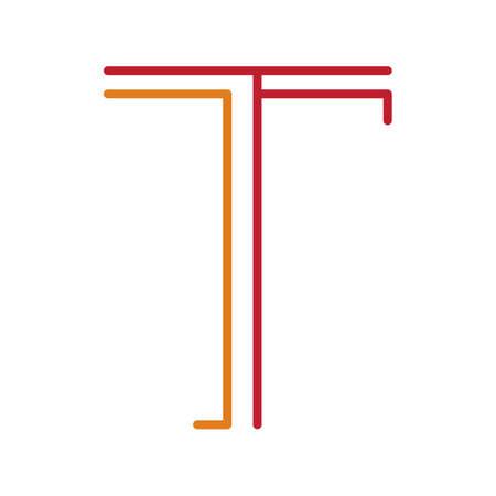 basic letters: letter t Illustration
