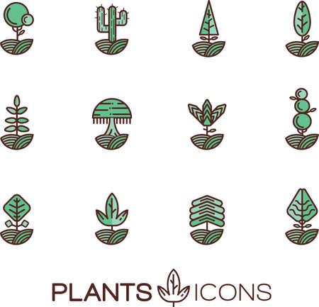 Set of plants icons