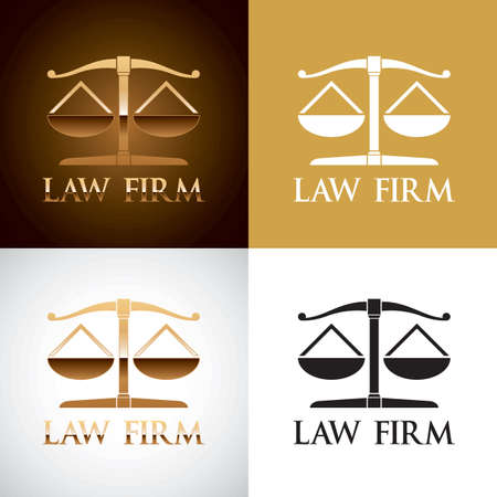 impartiality: Law firm logo element Illustration