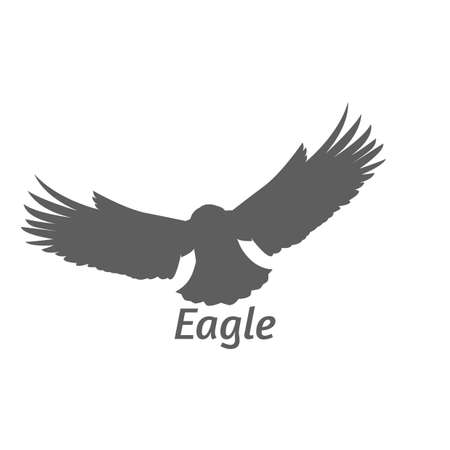 Silhouette of eagle flying