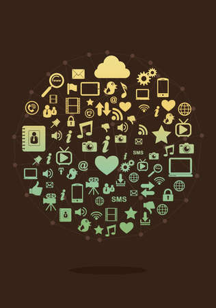 Social media concept Иллюстрация