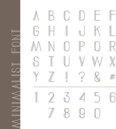 Minimalist alphabet set