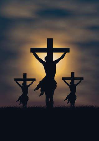 clavados: crucifixión