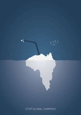 stop global warming concept Ilustrace